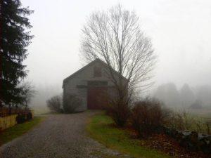 Barn in Fog