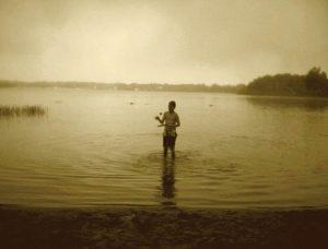 Elliot in the Pond
